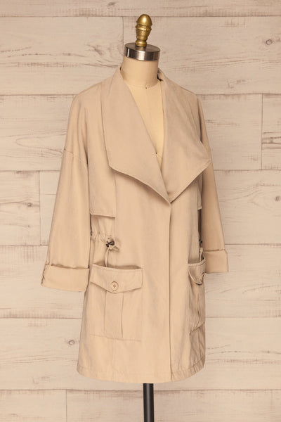 Damery Beige Grey Loose Jacket | La petite garçonne side view