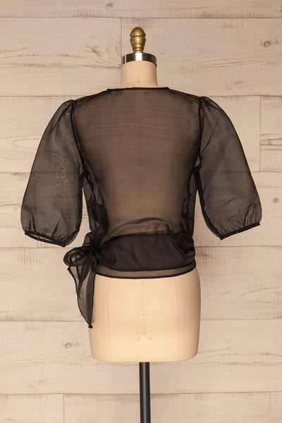 Danilo Black See-Through Top | Haut | La Petite Garçonne back view