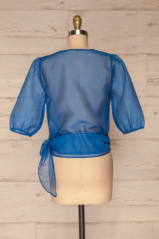 Danilo Blue See-Through Top | Haut | La Petite Garçonne back view
