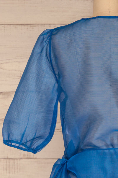 Danilo Blue See-Through Top | Haut | La Petite Garçonne back close-up