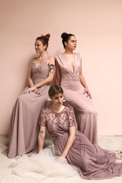 Fantine Lilac Sequin Flare Gown | Boutique 1861 models