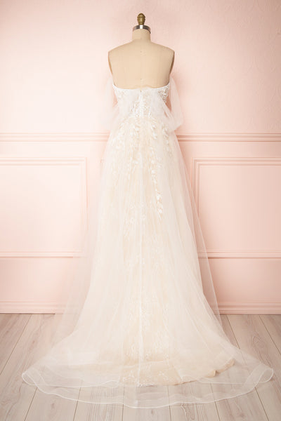Darana White Embroidered Bustier Bridal Dress | Boudoir 1861 back view