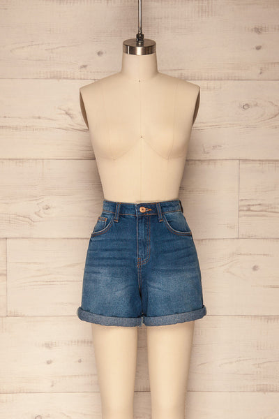 Daugstad Dark Blue High Rise Jean Shorts | La Petite Garçonne 1