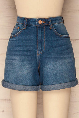 Daugstad Dark Blue High Rise Jean Shorts | La Petite Garçonne 2