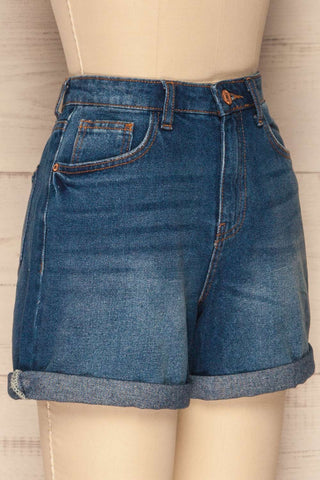 Daugstad Dark Blue High Rise Jean Shorts | La Petite Garçonne 4