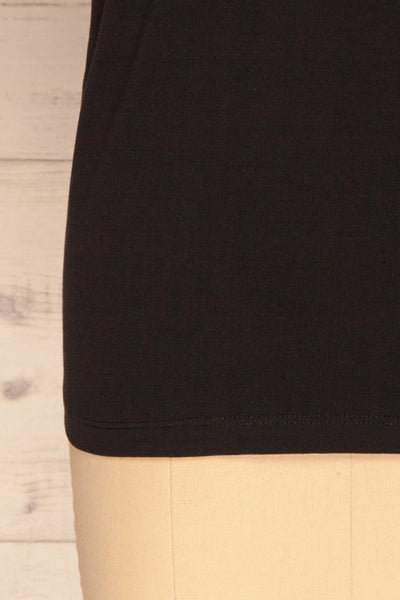 Dauve Black Rolled Sleeves T-Shirt | La petite garçonne bottom