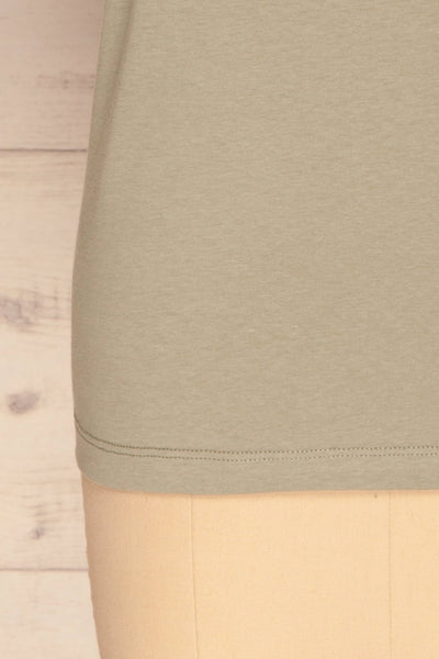 Dauve Seagrass Green Rolled Sleeves T-Shirt | La petite garçonne bottom
