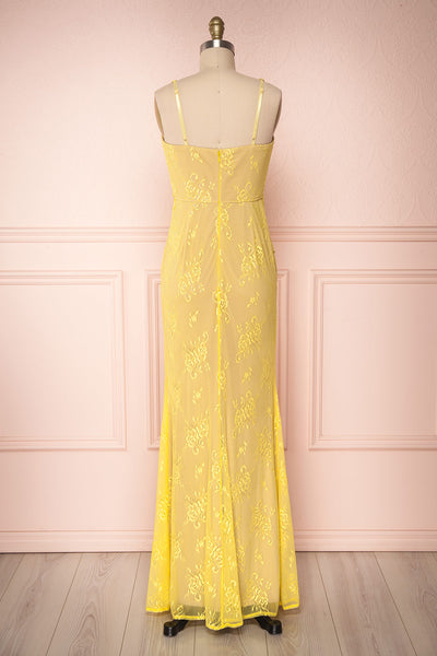 De Bourgh Sun | Yellow Lace Mermaid Gown