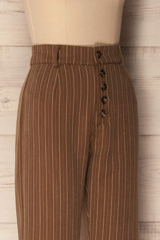 Decin Cliff Brown Tapered & Cropped Pants | La Petite Garçonne