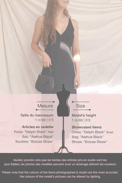 Delphi Black V-Neck Midi Dress | La petite garçonne template