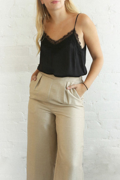 Derry Sable | Beige Wide Leg Pants