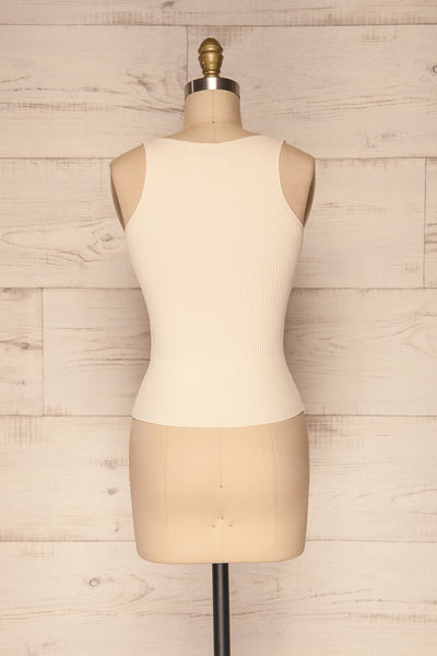 Deurle Cream Ribbed Button-Up Camisole | La Petite Garçonne 5