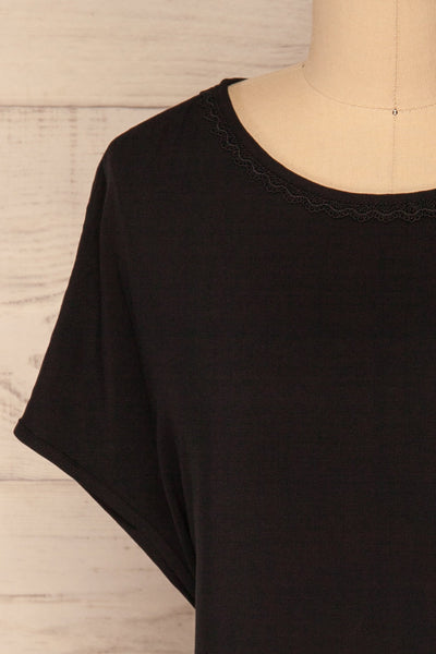 Dingja Black Short Sleeved Loose T-Shirt | La Petite Garçonne 2