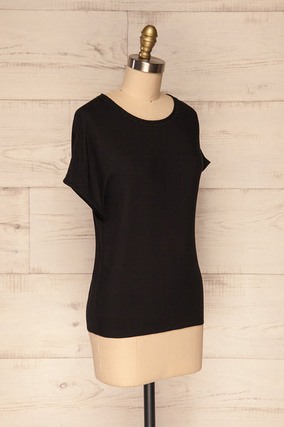 Dingja Black Short Sleeved Loose T-Shirt | La Petite Garçonne 3