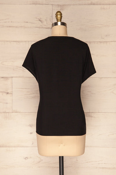 Dingja Black Short Sleeved Loose T-Shirt | La Petite Garçonne 5