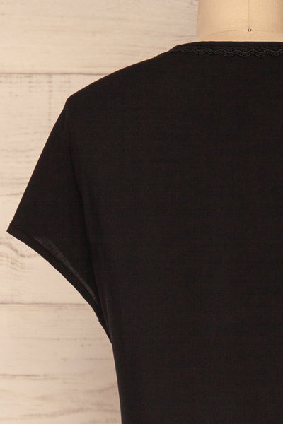 Dingja Black Short Sleeved Loose T-Shirt | La Petite Garçonne 6