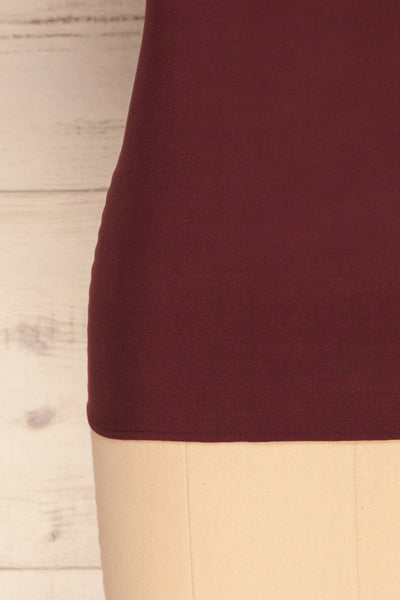 Dingja Burgundy Short Sleeved Loose T-Shirt | La Petite Garçonne 7