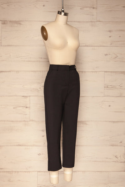 Dingsoyr Black Straight Leg Pants | La Petite Garçonne side view