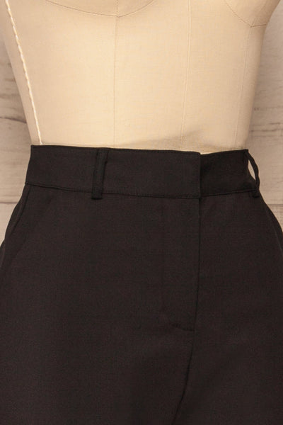 Dingsoyr Black Straight Leg Pants | La Petite Garçonne side close-up