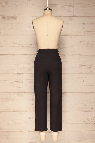 Dingsoyr Black Straight Leg Pants | La Petite Garçonne back view