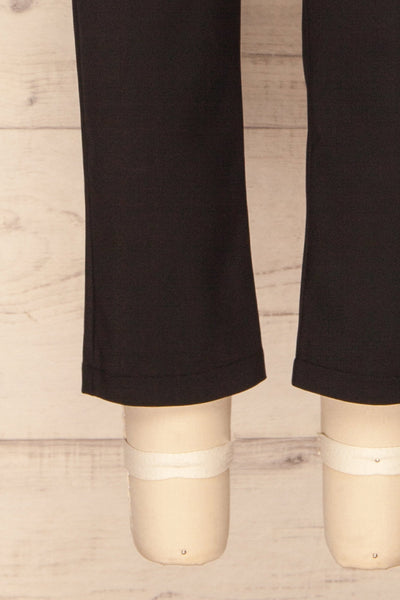 Dingsoyr Black Straight Leg Pants | La Petite Garçonne bottom close-up