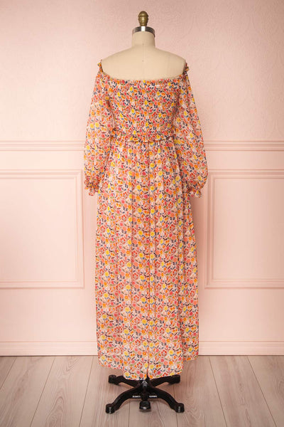 Dorothie Colourful Long Sleeve Maxi Dress | Boutique 1861 back view