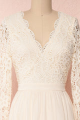 Dottie Cream Lace & Chiffon A-Line Gown | Boutique 1861 2