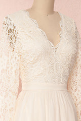 Dottie Cream Lace & Chiffon A-Line Gown | Boutique 1861 4