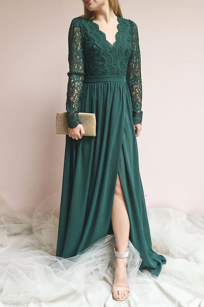 Dottie Emerald |  Green Chiffon Gown