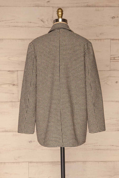 Drawno Black & White Houndstooth Blazer | La petite garçonne  back view