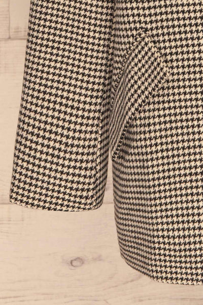 Drawno Black & White Houndstooth Blazer | La petite garçonne  bottom
