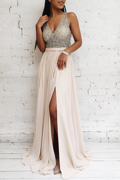 Eridani Champagne | Gown With Crystals