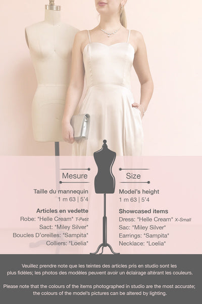 Hellee Cream Beige Silky Maxi Dress | Boudoir 1861 template
