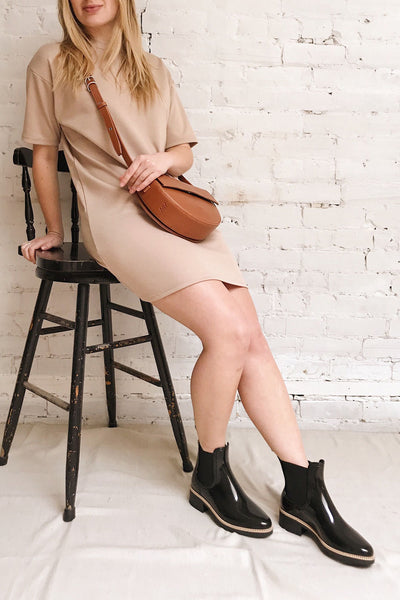 Kilkenny Beige T-Shirt Dress | La petite garçonne model look