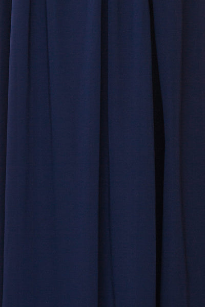 Dulcea Navy Chiffon Off-Shoulder Gown | Robe fabric | Boudoir 1861
