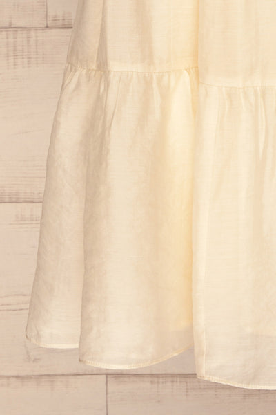 Duleek Off White A-Line Midi Dress skirt | La petite garçonne
