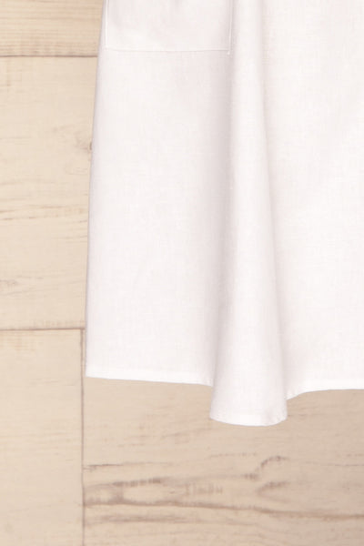 Ebbesvik Cloud White Button-Up A-Line Dress | La Petite Garçonne