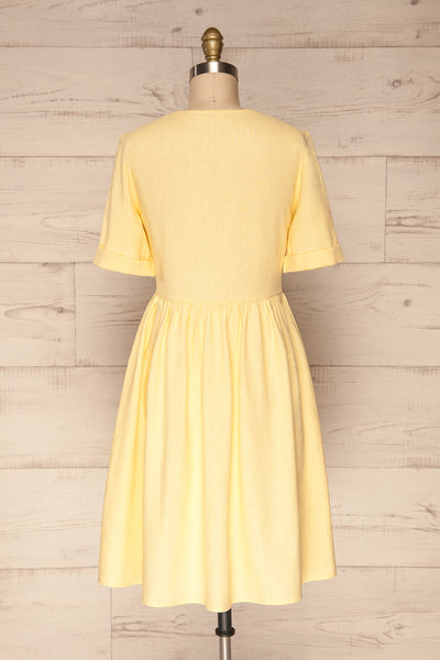 Ebbesvik Field Yellow Button-Up A-Line Dress | La Petite Garçonne
