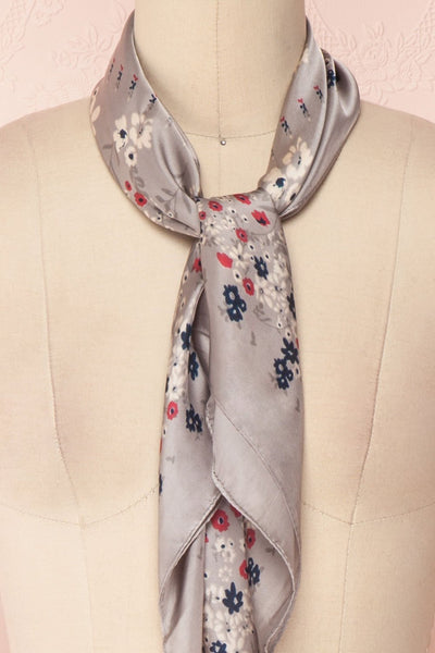 Éclat d'Été Gris Colourful Silky Square Scarf | Boutique 1861 5