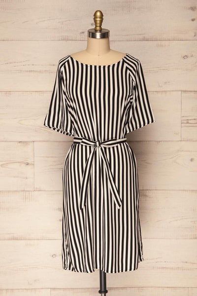 Edhessa Black & White Striped Tunic Dress | La Petite Garçonne