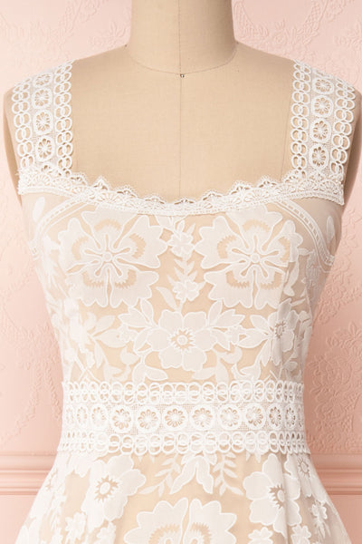 Efigenia Beige & White High-Low Bridal Dress | Boudoir 1861