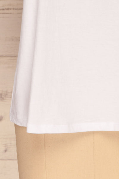 Eftang White Rolled Sleeves T-Shirt | La petite garçonne bottom