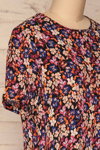 Egedal Colourful Floral Tunic Dress | La Petite Garçonne 4