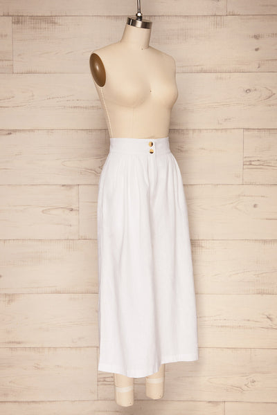 Eggedal Cloud White Wide Leg Cropped Pants | La Petite Garçonne