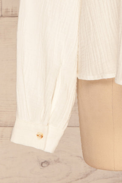 Eggesvik White Textured Button-Up Shirt | La petite garçonne  sleeve