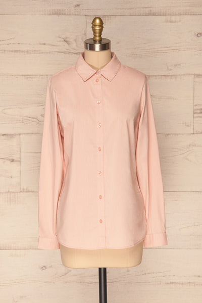 Eggodden Rose Light Pink Long Sleeved Shirt | La Petite Garçonne front view
