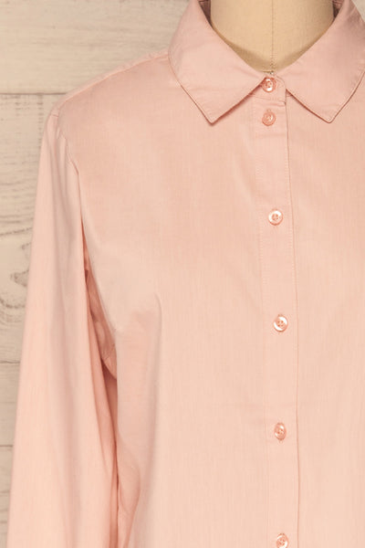 Eggodden Rose Light Pink Long Sleeved Shirt | La Petite Garçonne front close up