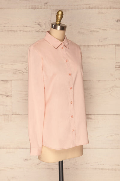 Eggodden Rose Light Pink Long Sleeved Shirt | La Petite Garçonne side view