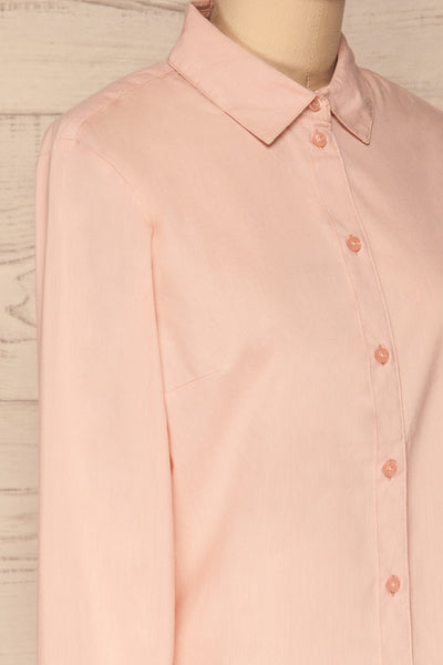 Eggodden Rose Light Pink Long Sleeved Shirt | La Petite Garçonne side close up