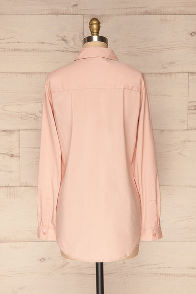 Eggodden Rose Light Pink Long Sleeved Shirt | La Petite Garçonne back view